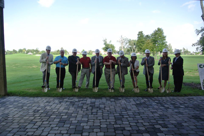 The groundbreaking at Lakewood